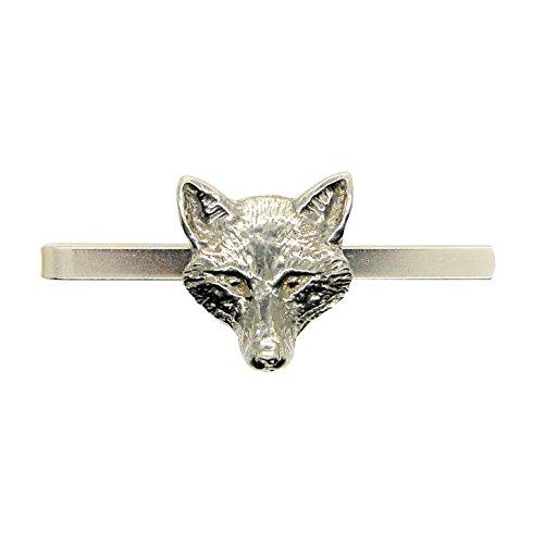 """Krawattennadel \""""Fuchs Kopf\"""" aus Zinn (Pewter) von Hand Gegossen"""