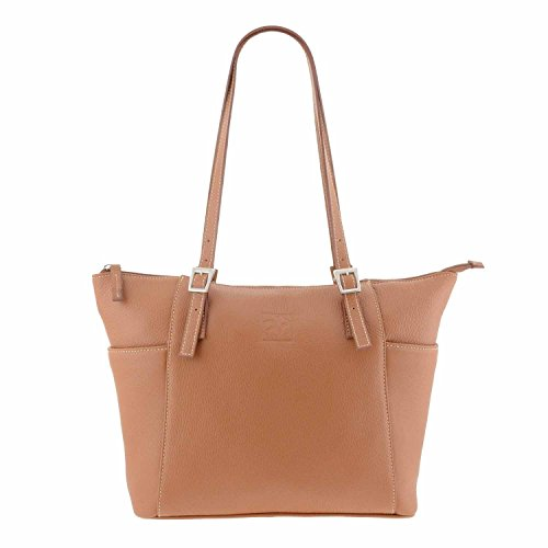 Stile borsa di pelle cestino CUERO/MARRON