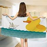 Louis Katrine Simpatico Cartone Animato Duck Pattern 9 Asciugamani da Bagno Asciugatura Rapida per nuotatori Asciugamani da Bagno Oversize da Spiaggia