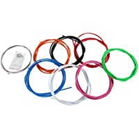 Pentagon Sports 2,5 m Farbige Bremszughülle 7 Farben inkl. 2 Bremszüge 6 Endhülsen & 2 Endkappen