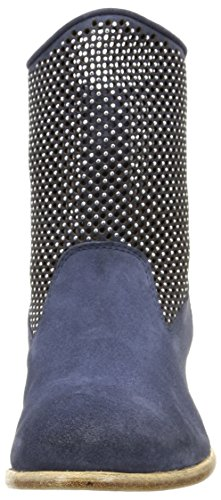 NOW 2720, Bottes Souples femme Bleu (Velour Jeans/Strass Nickel)