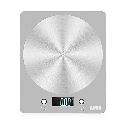 AMIR Digitale Küchenwaage ( 5000g / 1 g), Küchenwaage, Multifunktionelle Professionelle Präzise Digitale Küchenwaage, Küchenzubehör, Küchenhelfer, Hohe Präzision auf bis zu 1g (5kg Maximalgewicht) Test