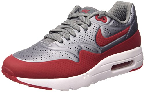 Nike Air Max 1 Ultra Moire, Chaussures de Sport Homme Gris (Metallic Cool Grey/Gym Red-White)