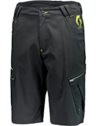 Scott Pantalones Cortos Factory Team Support Black/Sulphur Yellow, primavera/verano, hombre, color black/sulphur yellow, tamaño xx-large
