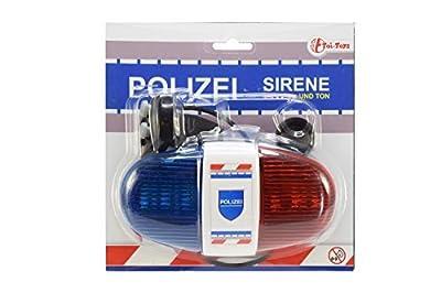 Polizei Sirene mit 6 LED Blinklicht und 4 Tönen