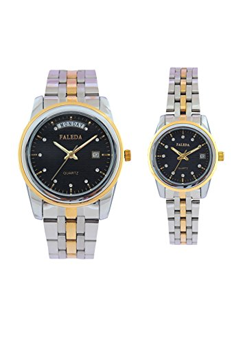 Faleda 6154PTTBDAY-DATE Sports Analog Watch For Couple