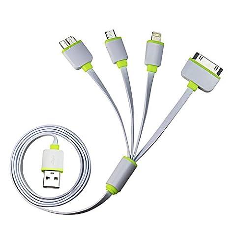 Timorn Multi Ladekabel 4 in 1 USB Kabel Mehrfach Adapter