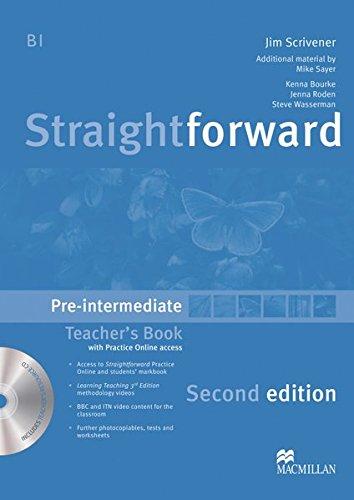 Straightforward Sec. Ed. Pre-Intermediate: Straightforward Second Edition: Pre-Intermediate / Teacher's Book with Resource DVD-ROM and Webcode