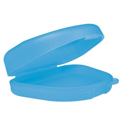 wellsamed Zahnspangendose Spangendose Dento Box blau, flache Dose (auch für Aufbissschiene, Knirscherschiene) 1 Stück