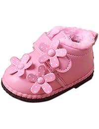 Malloom 0-2 años infantil bebé niñas niños flor zapatos invierno nieve Botas zapatos de cuero
