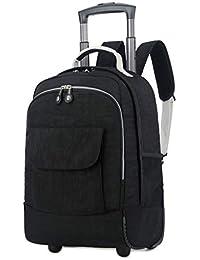 2cef9c3b3 GLLSZ Zaino con Ruote Business Travel Borsa da Viaggio Trolley Ruota Laptop  Backpack Zaino per Studenti