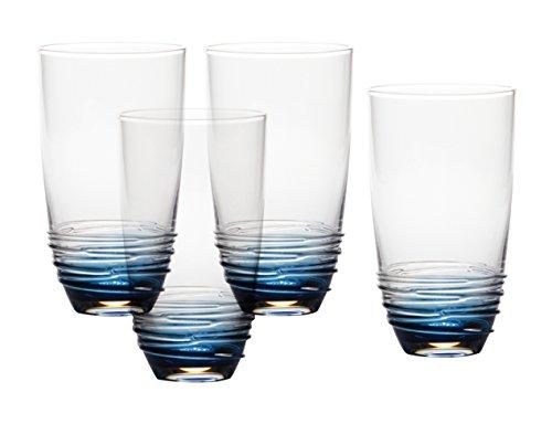 Mikasa Swirl Cobalt Glas (Set von 4), 20, OZ Mikasa-swirl