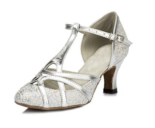Minitoo , Damen Tanzschuhe, Silber - silber - Größe: 37.5