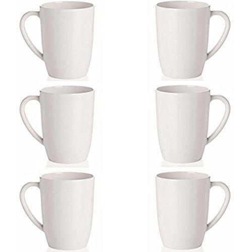 6 weiße Camping- Kaffeebecher / Kaffeetassen / Becher 0,35L., konisch aus Melamin