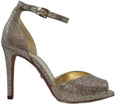 Michael Kors Cambria Sandal - Sandalias de Mujer Platino Platinum, 5