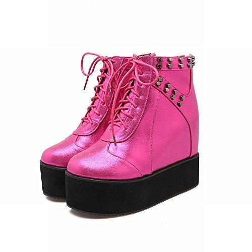 MissSaSa Donna Scarpe col Tacco Flatform Alto Punk Fashion Shoes Pink