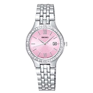 Seiko Womens Analogue Classic Quartz Watch with Stainless Steel Strap SUR765P9