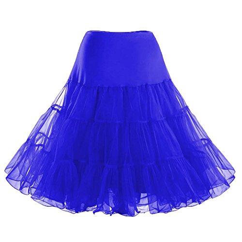 Facent Donne 65cm Tutu Gonna Di Sottogonne Principessa Gonna Blu reale