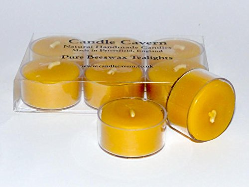 100% Pure Beeswax Candles - 6 Beeswax Tealights