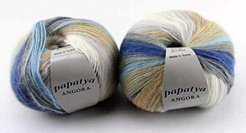 Papatya Angora Batik Bunt - 100g Wolle/Garn Zum Häkeln und Stricken Farbauswahl (18)