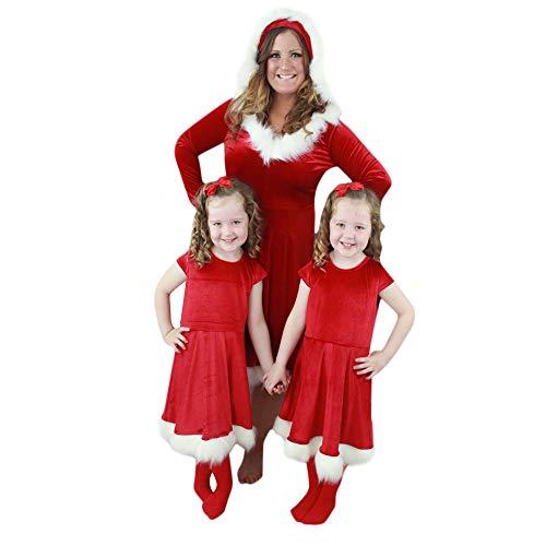 Snakell Weihnachten Familie Matching Pyjama - Erwachsene Kinder und Säugling Weihnachtsmann Damen Kostüm Miss Santa Für die Weihnachtsfeier oder Party Nachtwäsche Nikolaus Pyjama