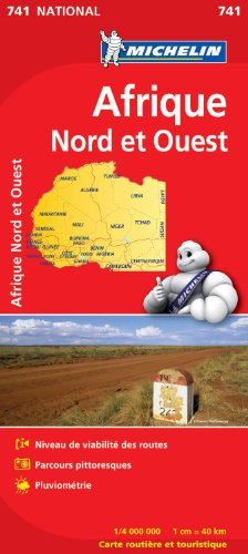 Carte NATIONAL Afrique Nord et Ouest par Collectif Michelin