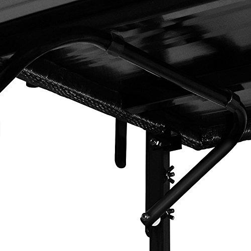 Deuba Balkontischhängetisch Hängetisch Klapptisch Balkontisch Poly Rattan Gartenmöbel schwarz klappbar
