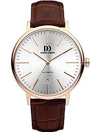 Men'Danish Design Herren-Armbanduhr Analog Automatik Leder Braun Armband DZ120355