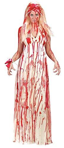 e Kostüm für Damen Prom Nightmare Zombie Braut Jungfrau Horrorfilm, Größe:M/L (Zombie Prom King-halloween-kostüm)