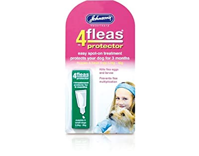 Johnsons 4fleas protector spot on dog puppy 3 month flea protection