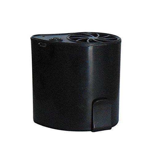 LDRAGON USB-Ventilator Nach Hause Auto Im Freien Mobile Klimaanlage Lade Taille Lüfter Sommerkühlung Tragbare Stummschaltung Mini-3-Gang-Einstellung -8 * 4,8 * 8 cm,Black (Motor 3 Gang Gebläse)