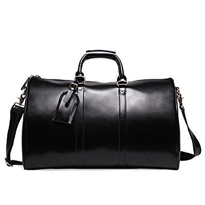 Leathario sac voyage en cuir veritable bagage cabine valise en cuir veritable