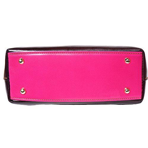 Handtasche Tote 204 Pink-Braun