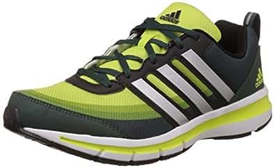 Adidas Men's Magnus 3.0 M Green, Silver, Yellow and Black Mesh Running Shoes - 11 UK