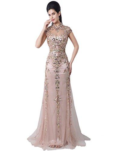 Sarahbridal Damen Kleid Rosa - Blaßrosa