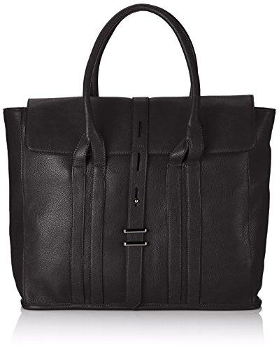 Friis & Company - Grain Molly Shopper, Borsa A Tracolla da donna, nero (black), 12x35x40 cm (B x H x T)