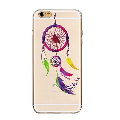 Hülle für iPhone 6/6S Plus 5.5 Zoll, Sunroyal® Silikon Gel [Kratzfeste, Scratch-Resistant], TPU Case Schutz Hülle Soft Protective Silikon Clear Case Muster 02