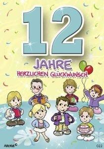 lustige Geburtstagskarte zum 12. Geburtstag