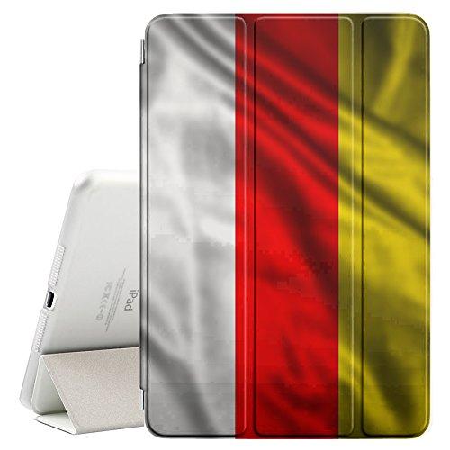 FJCases Süd-Ossetien Wehende Flagge Smart Cover Tablet-Schutzhülle Hülle Tasche + Auto aufwachen / Schlaf Funktion für Apple iPad Air 2