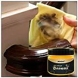 Bearbelly Cuidado de Muebles Cera, Cuidado de Muebles Cera de Abejas Limpieza del hogar Cera Natural para Usar en Todos los Tipos de Madera, Wood Seasoning Beeswax Solución Completa