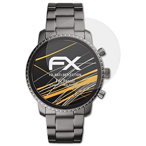 atFoliX Panzerfolie kompatibel mit Fossil Q Explorist HR 4. Generation Schutzfolie, entspiegelnde & stoßdämpfende FX Folie (3X)