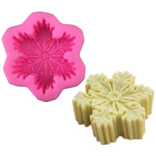 Allforhome Moule à savon en silicone Motif flocon Craft Moules DIY Moules Savon fait à la main.