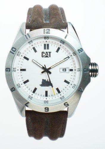 Caterpillar BIG TWIST XL CA0853 - Reloj de caballero de cuarzo, correa de piel color marrón