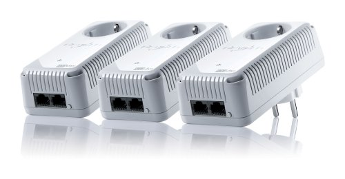 Devolo dLAN 500 duo+ Network Kit (500 Mbit/s, 3 Adapter, Steckdose, Datenfilter, Powerline) weiß