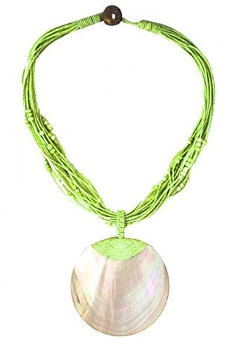 ethno-shop-necklace-with-pearlescent-shell-pendant-green