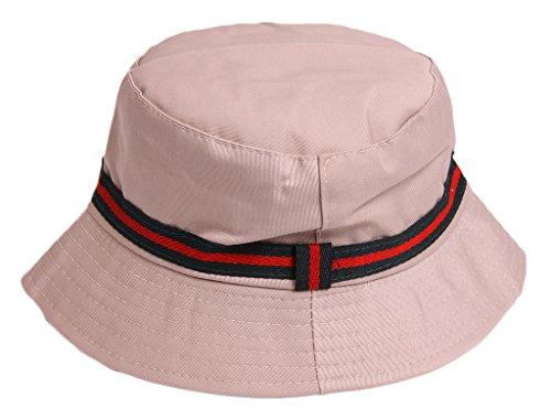 IMTD Herren-Hut, Designer, mit Streifen, Beanie Hat Gr. One Size, beige (Designer Hüte Beanie)