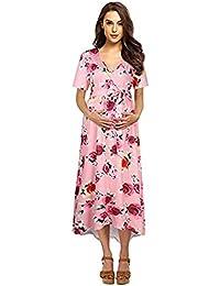 Amazon.it  vestito jeans - Rosa   Donna  Abbigliamento e15b2fa7545