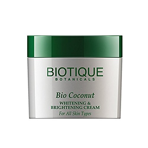 Biotique Botanicals Bio Coconut Whitening and Brightening Cream, 1.9 Ounce