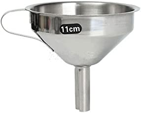 Generic Various Size Kitchen Stainless Steel Pouring Funnel Oil Bottle Strainer Jam Filter - 11cm