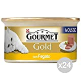 Purina Set 24 Gourmet Gold Liver Mousse Gr 85 Food For Cats
